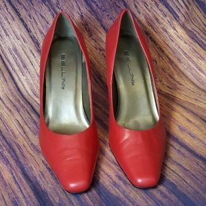 2 for $15 Bellini Dark Red Leather pumps size 7m